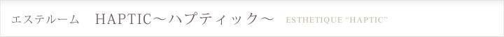 エステルーム HAPTIC〜ハプティック〜
